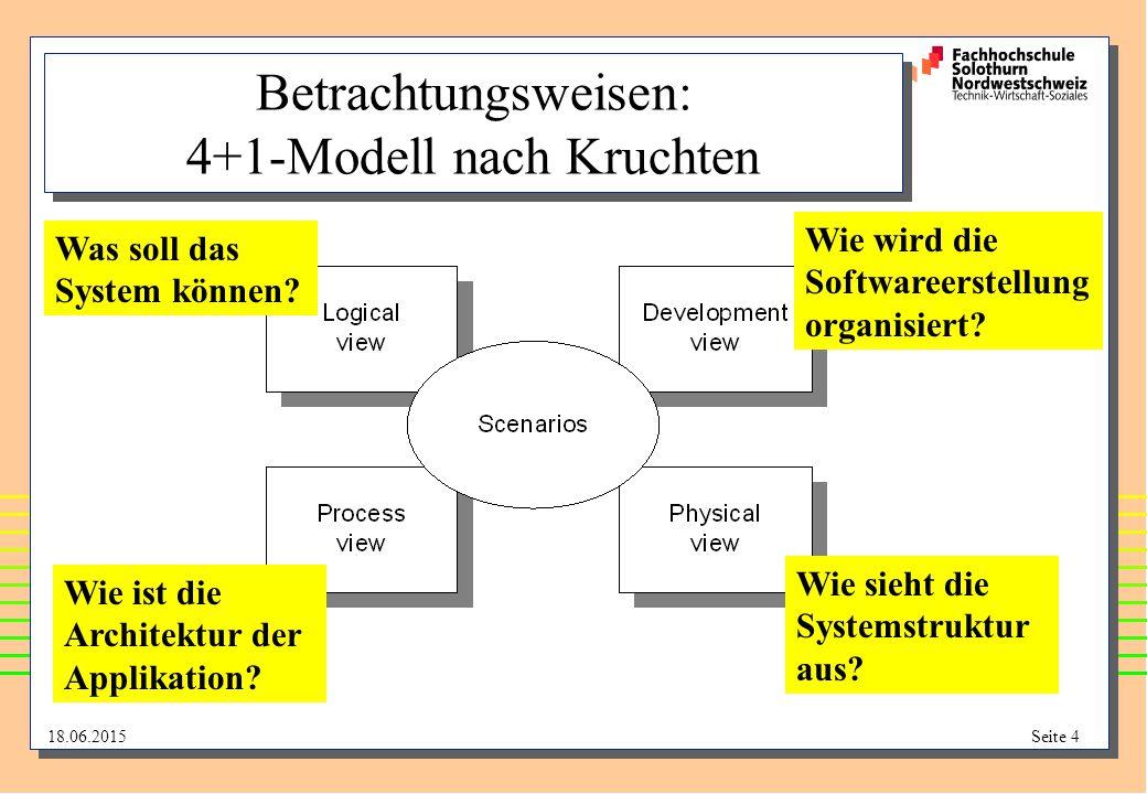 Betrachtungsweisen: 4+1-Modell nach Kruchten