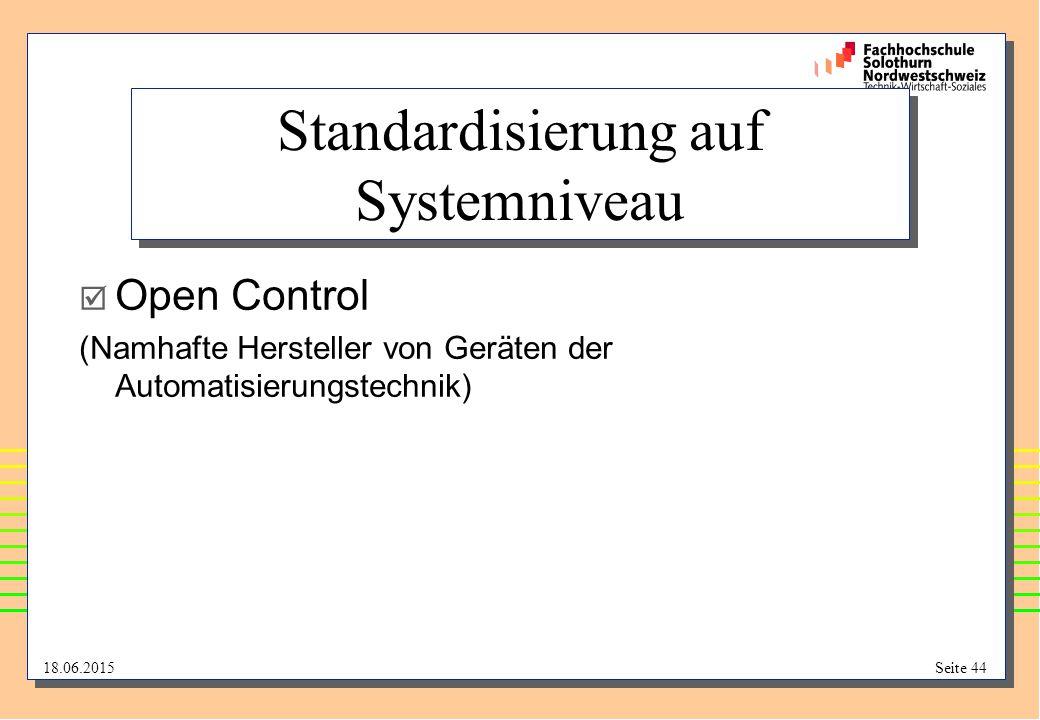 Standardisierung auf Systemniveau