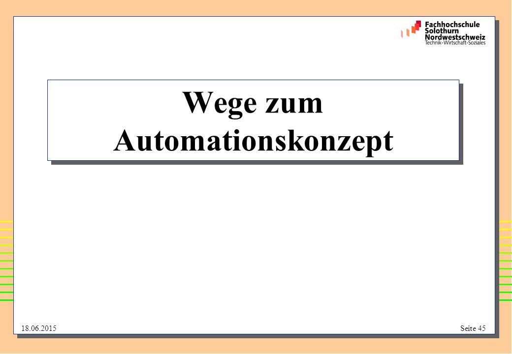 Wege zum Automationskonzept