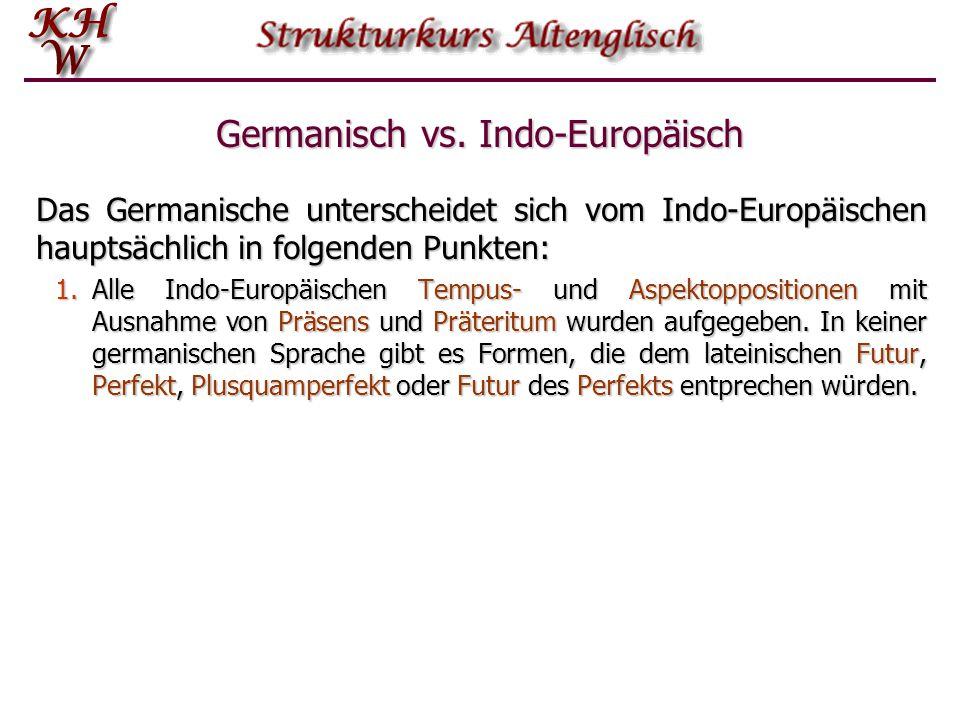 Germanisch vs. Indo-Europäisch