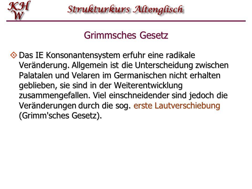 Grimmsches Gesetz