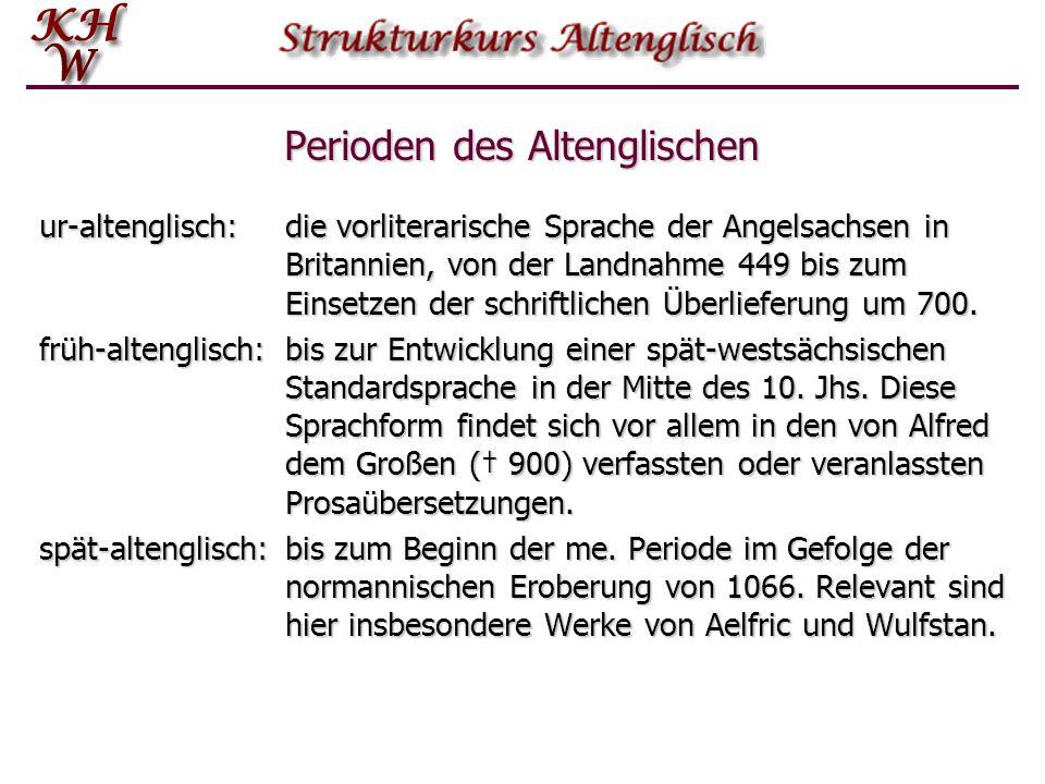 Perioden des Altenglischen