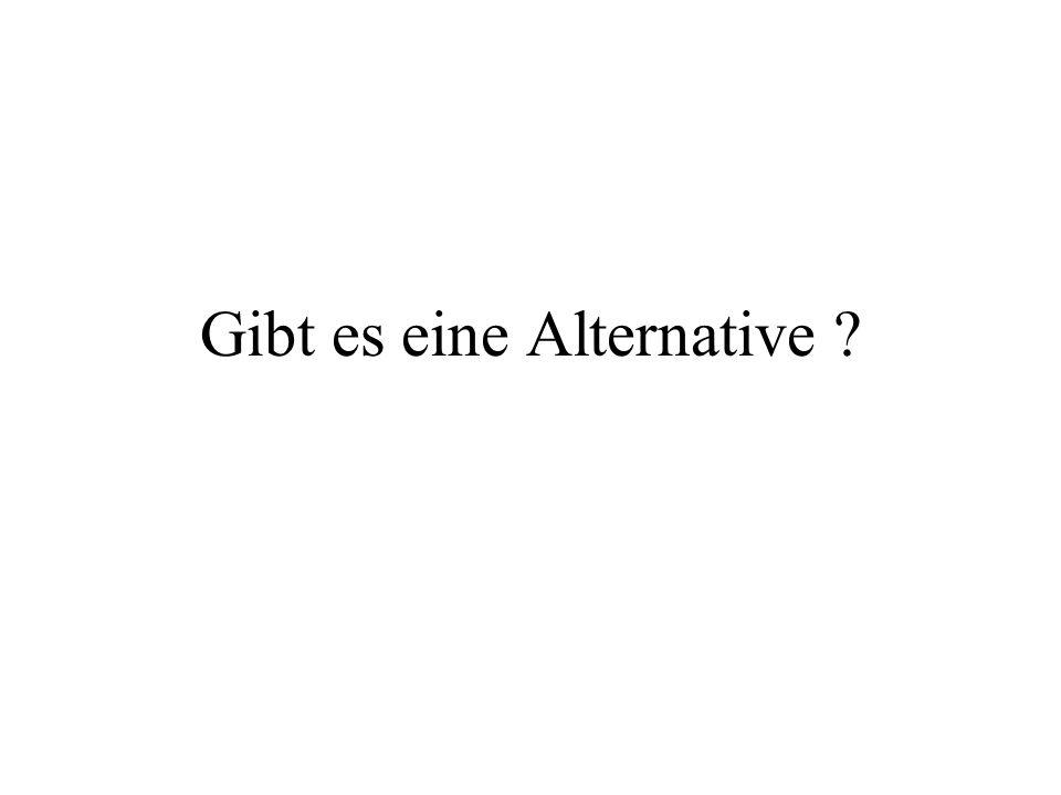 Gibt es eine Alternative