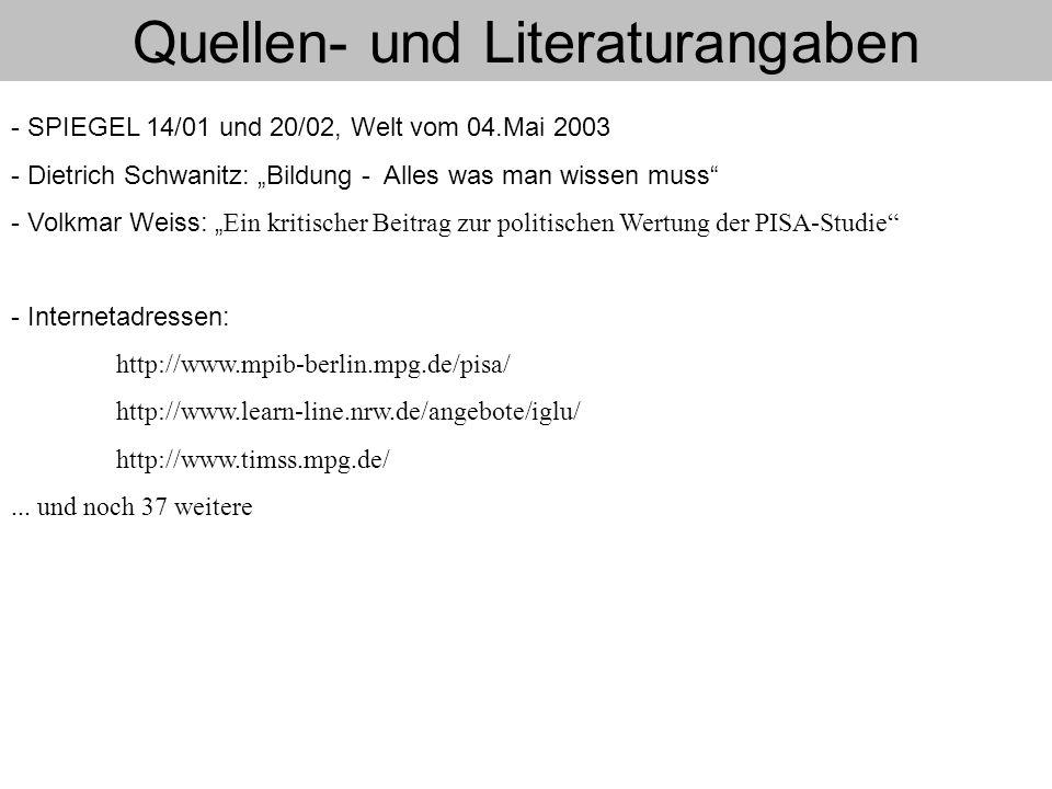 Quellen- und Literaturangaben