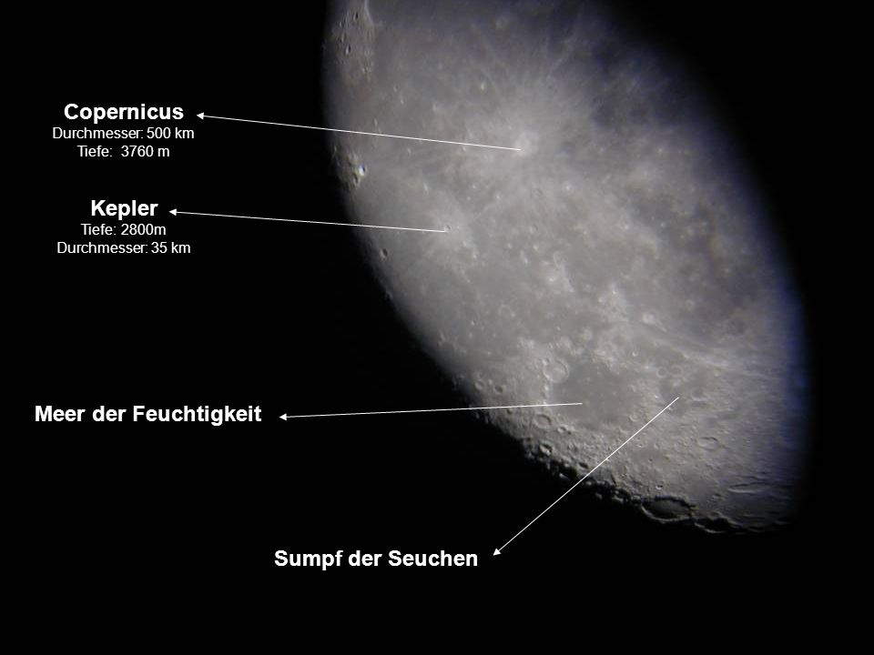 Copernicus Kepler Meer der Feuchtigkeit