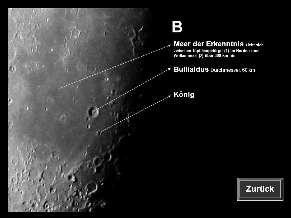 B Meer der Erkenntnis zieht sich zwischen Riphäengebirge (1) im Norden und Wolkenmeer (2) über 300 km hin.