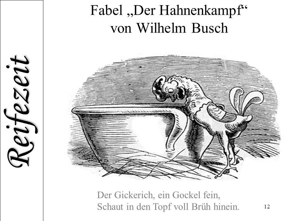 """Fabel """"Der Hahnenkampf von Wilhelm Busch"""