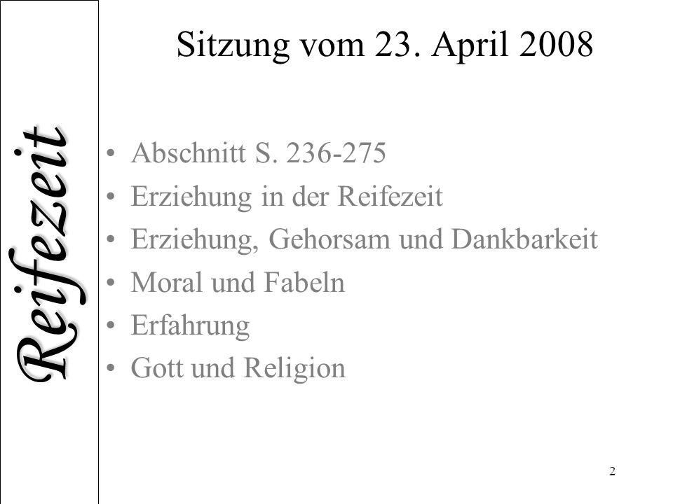Sitzung vom 23. April 2008 Abschnitt S. 236-275