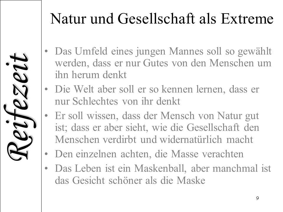 Natur und Gesellschaft als Extreme