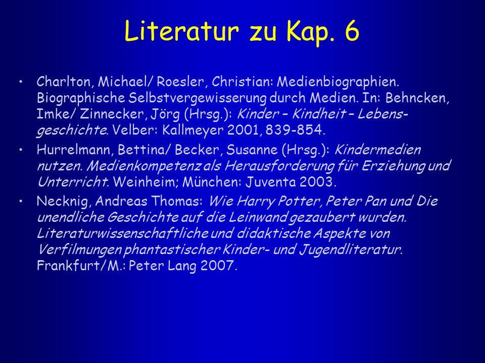 Literatur zu Kap. 6