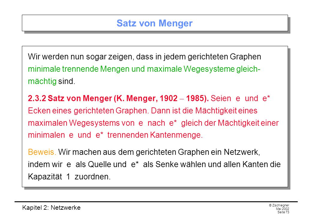 Satz von Menger