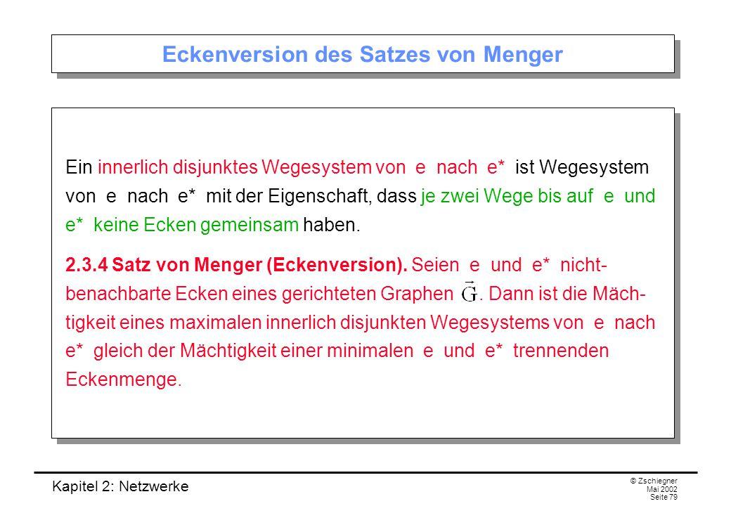 Eckenversion des Satzes von Menger