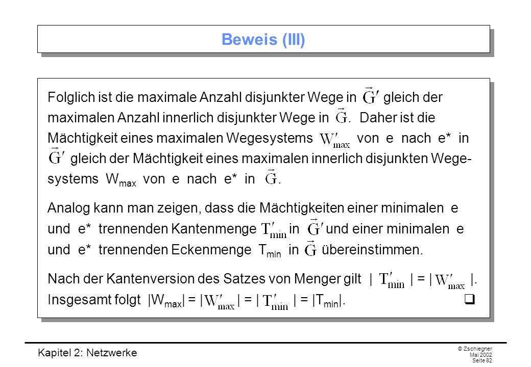 Beweis (III)
