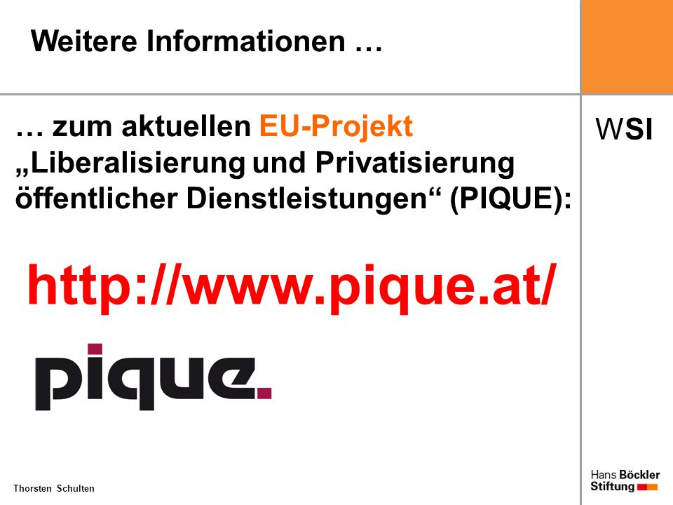 http://www.pique.at/ Weitere Informationen …