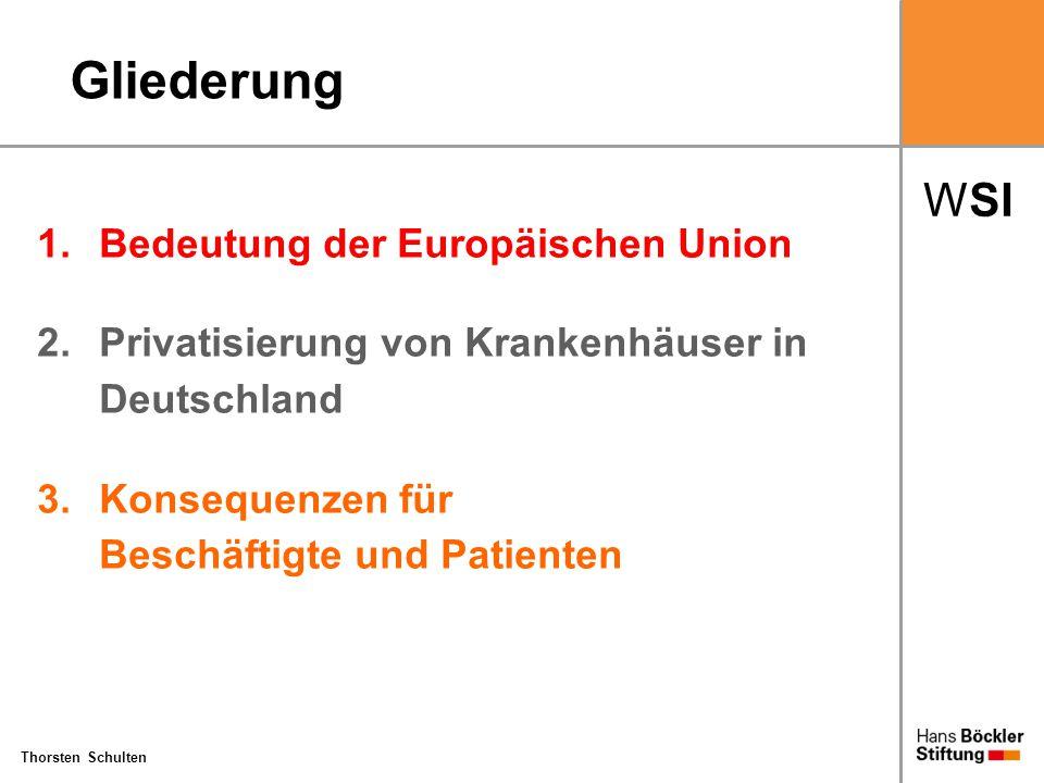 Gliederung 1. Bedeutung der Europäischen Union