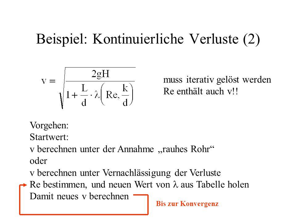 Beispiel: Kontinuierliche Verluste (2)