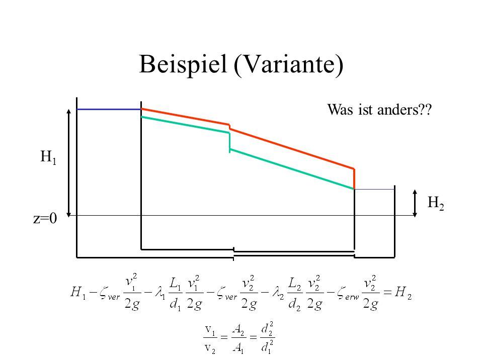 Beispiel (Variante) Was ist anders H1 H2 z=0