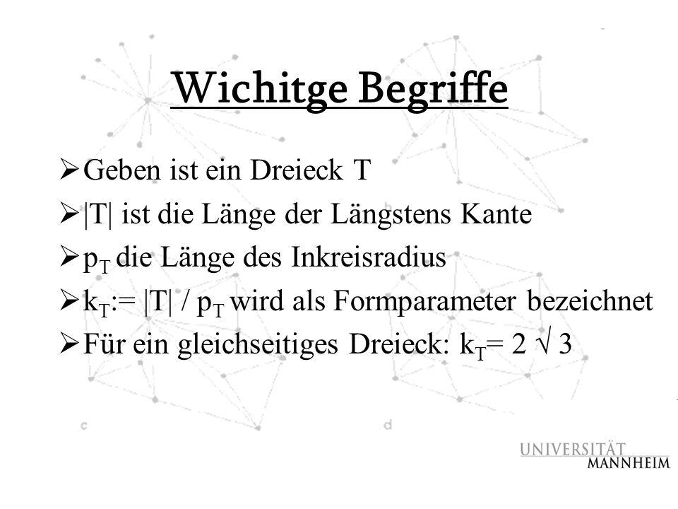 Wichitge Begriffe Geben ist ein Dreieck T