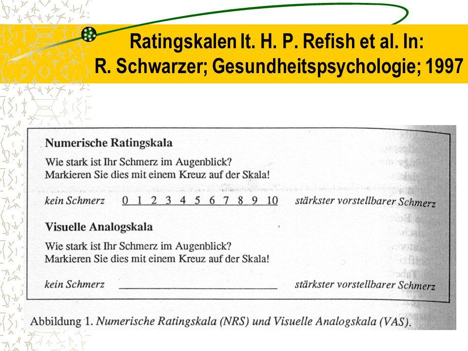 Ratingskalen lt. H. P. Refish et al. In: R