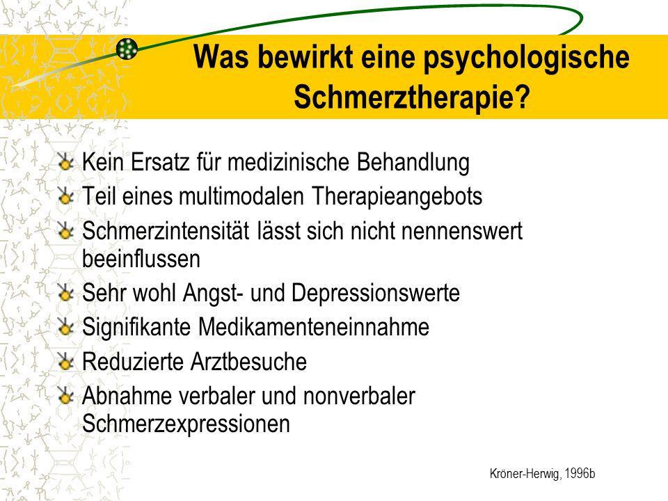 Was bewirkt eine psychologische Schmerztherapie