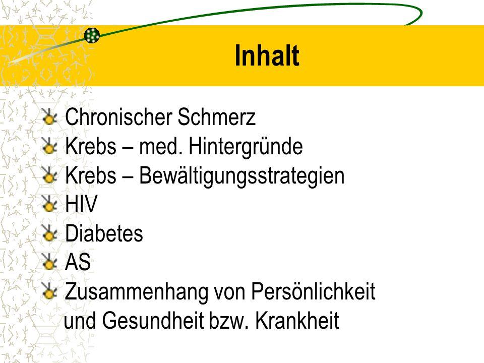 Inhalt Chronischer Schmerz Krebs – med. Hintergründe
