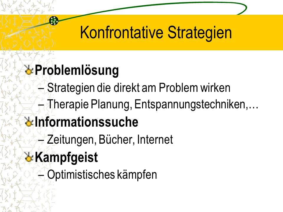 Konfrontative Strategien