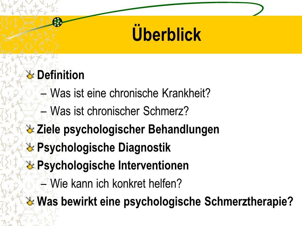 Überblick Definition Was ist eine chronische Krankheit