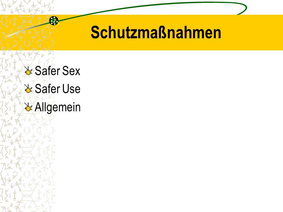 Schutzmaßnahmen Safer Sex Safer Use Allgemein
