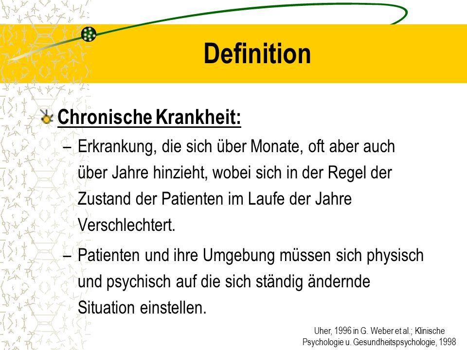 Definition Chronische Krankheit: