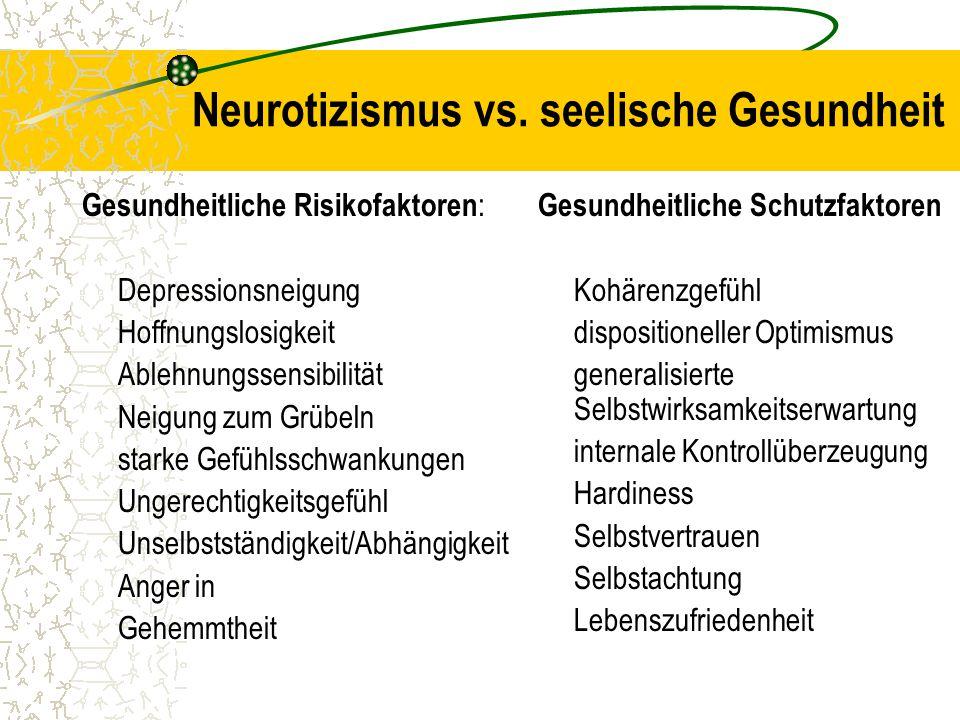 Neurotizismus vs. seelische Gesundheit