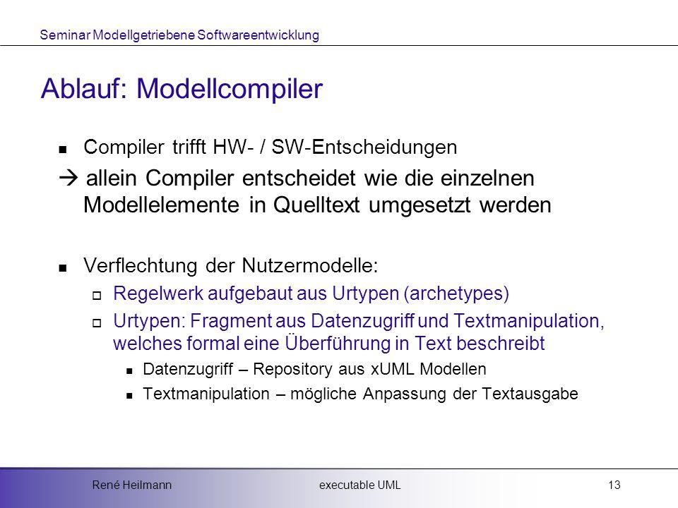 Ablauf: Modellcompiler