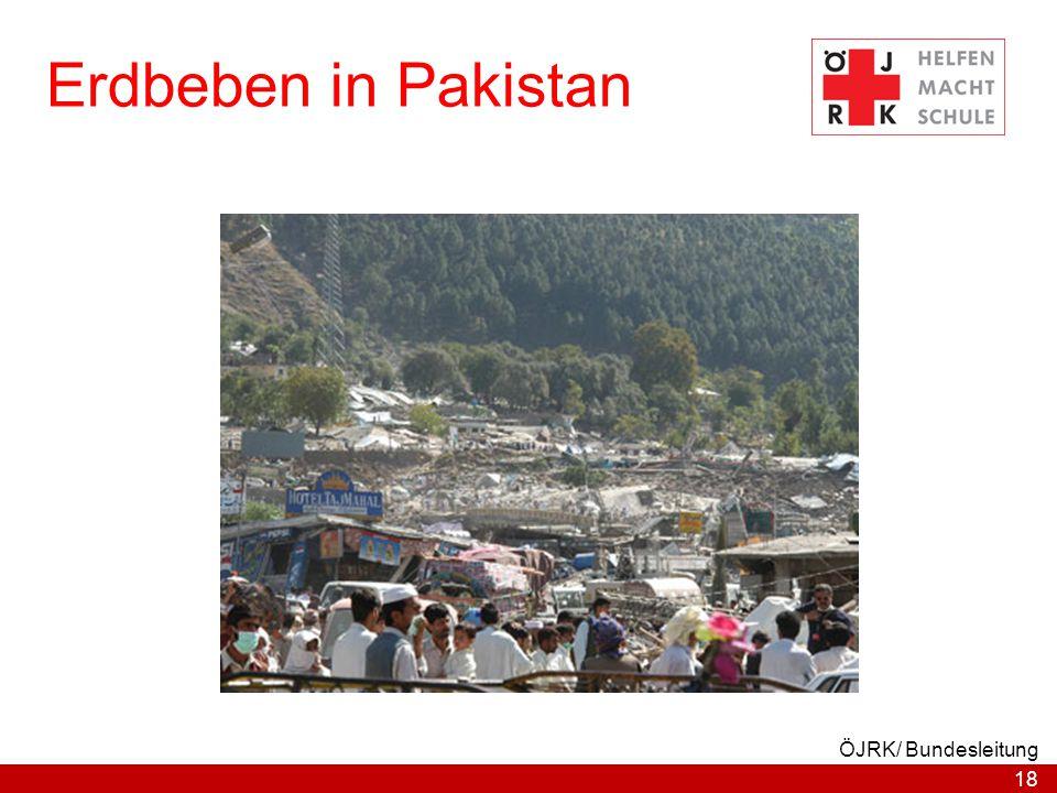 Erdbeben in Pakistan ÖJRK/ Bundesleitung
