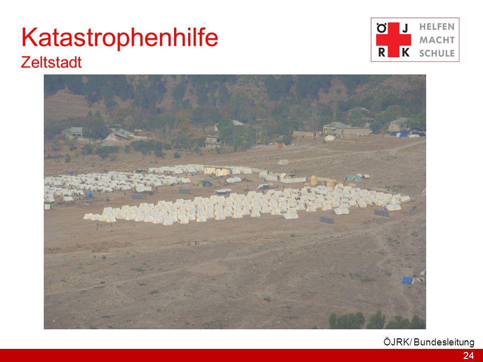 Katastrophenhilfe Zeltstadt