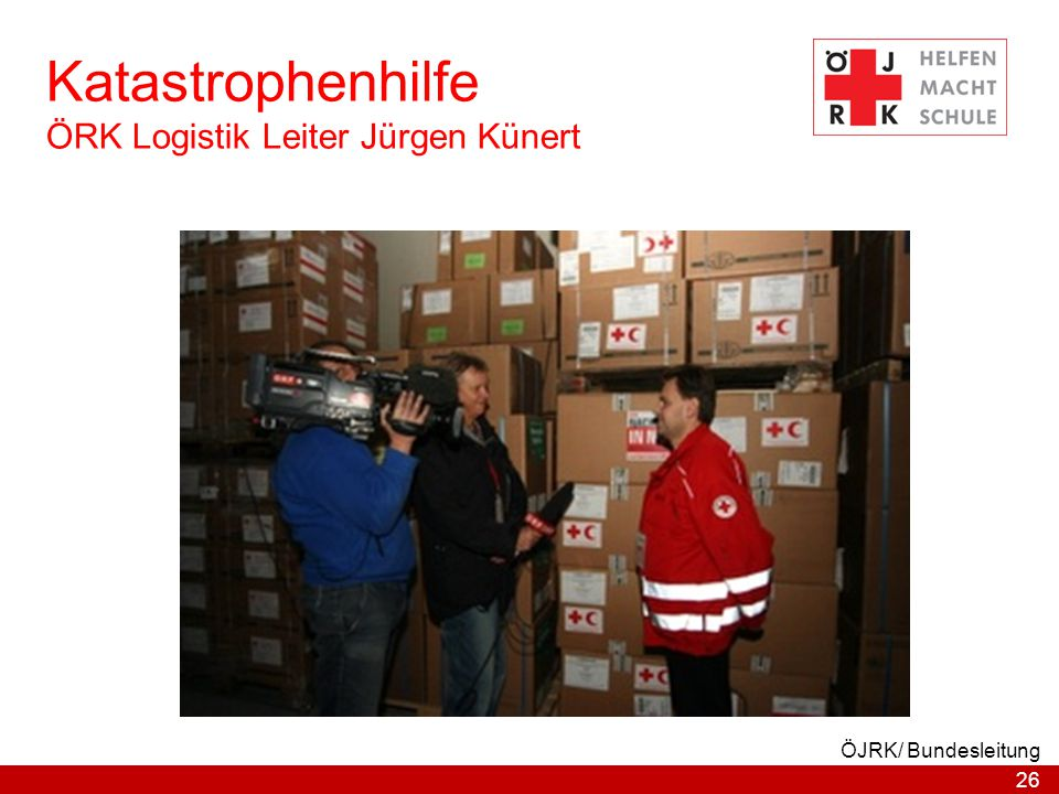 Katastrophenhilfe ÖRK Logistik Leiter Jürgen Künert