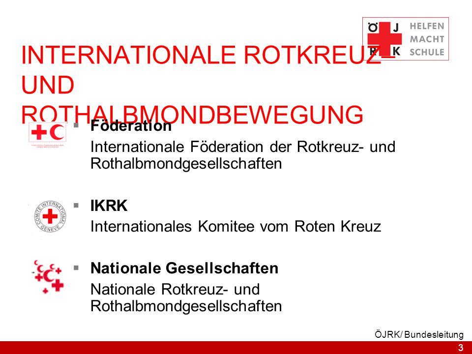 INTERNATIONALE ROTKREUZ– UND ROTHALBMONDBEWEGUNG