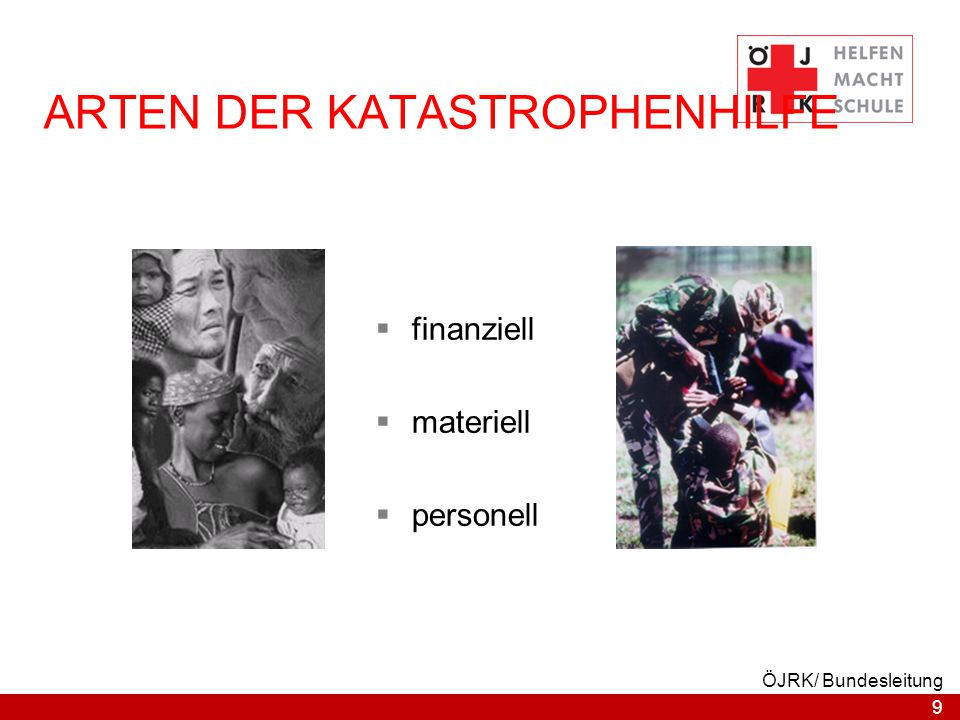 ARTEN DER KATASTROPHENHILFE