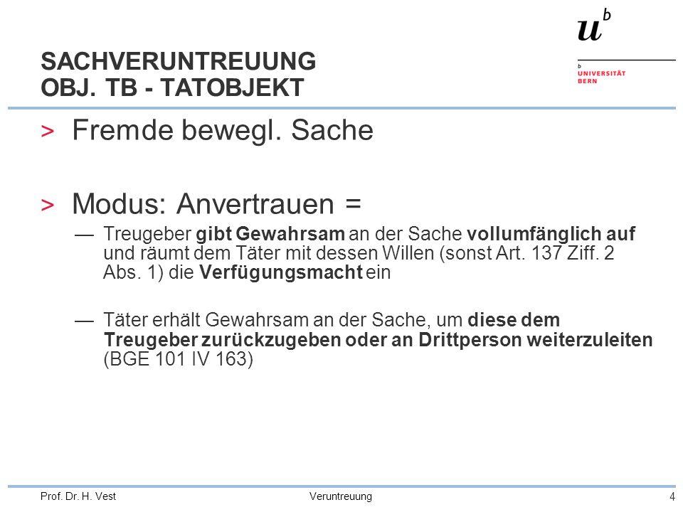 SACHVERUNTREUUNG OBJ. TB - TATOBJEKT
