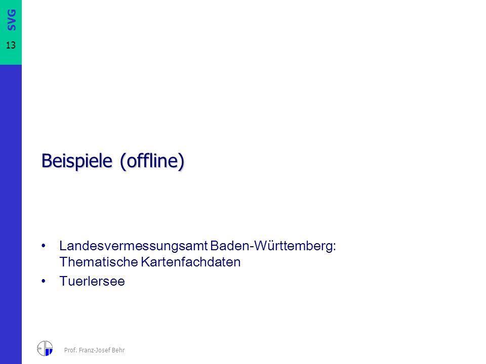 Beispiele (offline) Landesvermessungsamt Baden-Württemberg: Thematische Kartenfachdaten. Tuerlersee.