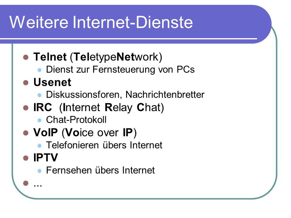 Weitere Internet-Dienste