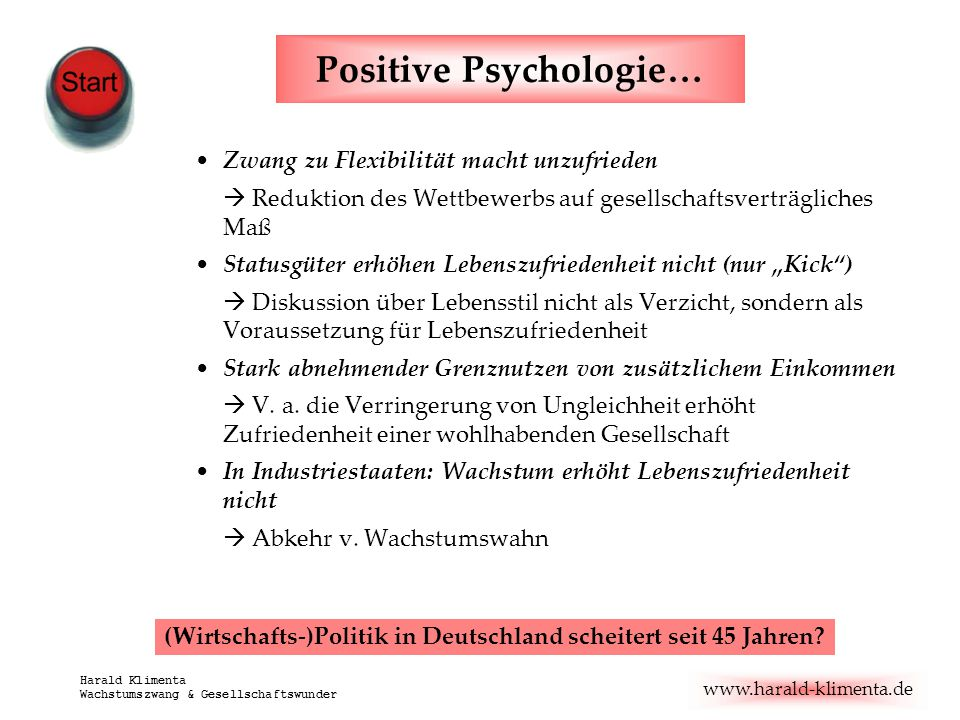 Positive Psychologie…