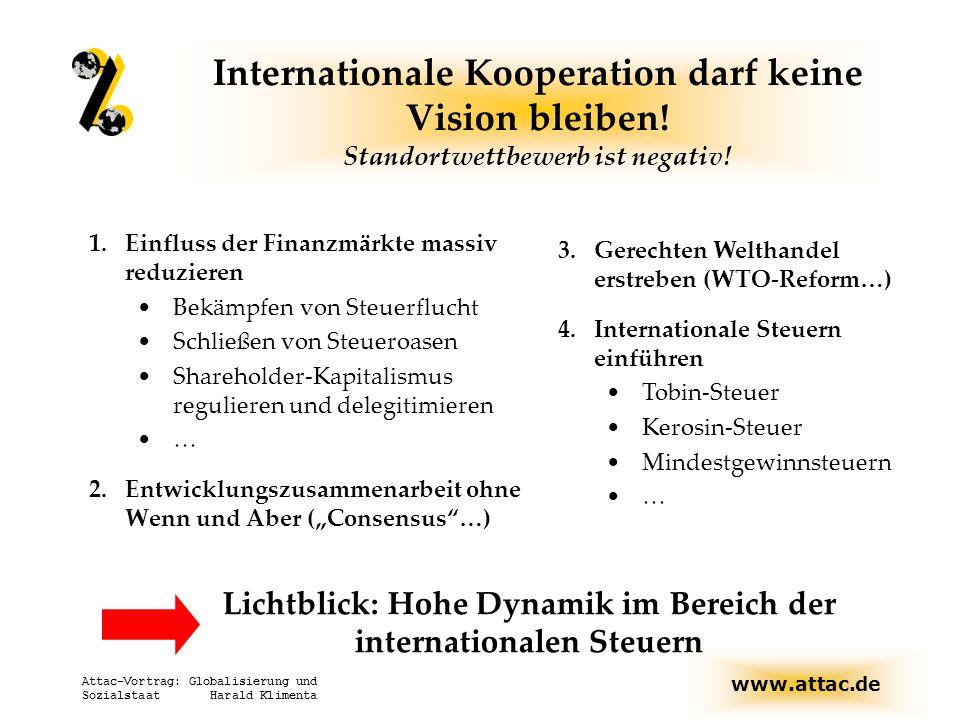 Lichtblick: Hohe Dynamik im Bereich der internationalen Steuern