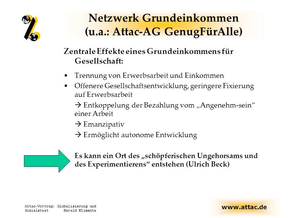 Netzwerk Grundeinkommen (u.a.: Attac-AG GenugFürAlle)