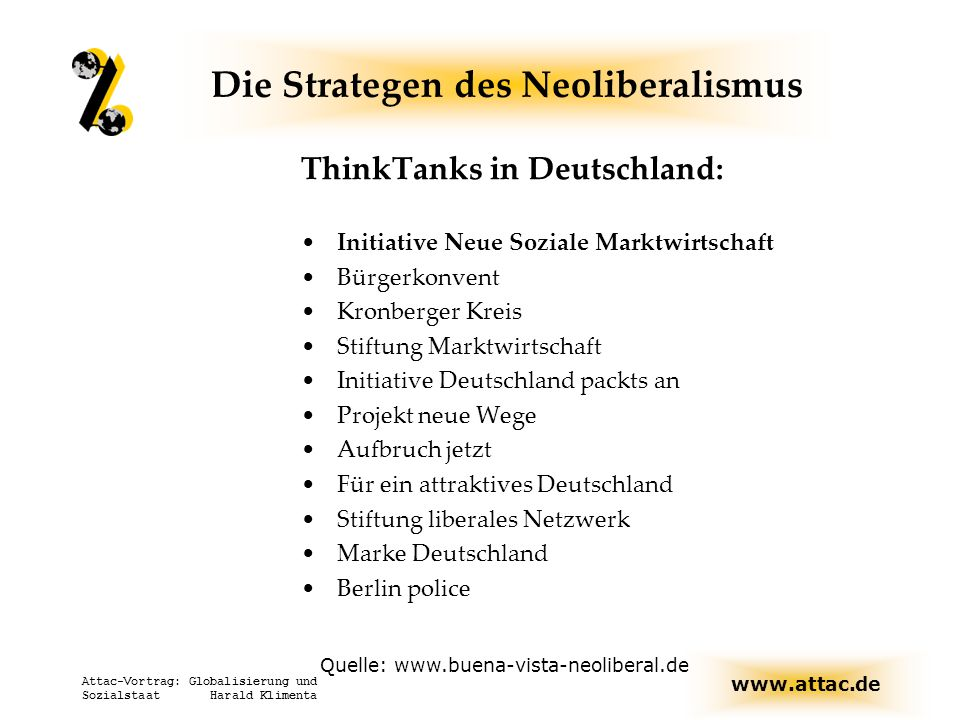 Die Strategen des Neoliberalismus