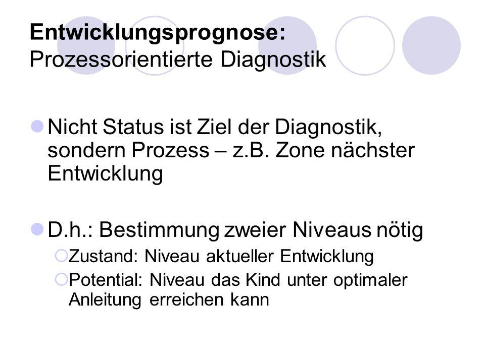 Entwicklungsprognose: Prozessorientierte Diagnostik