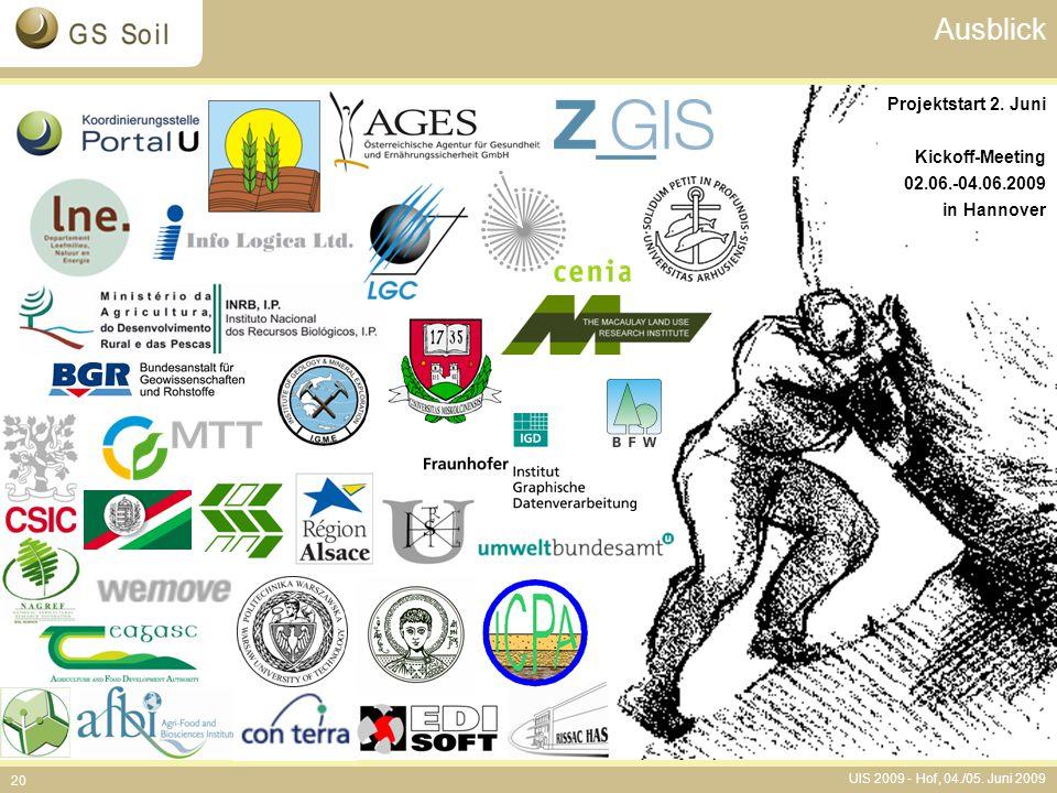 Ausblick Projektstart 2. Juni Kickoff-Meeting 02.06.-04.06.2009