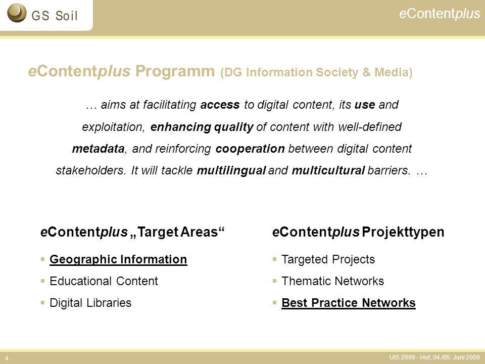 eContentplus Programm (DG Information Society & Media)