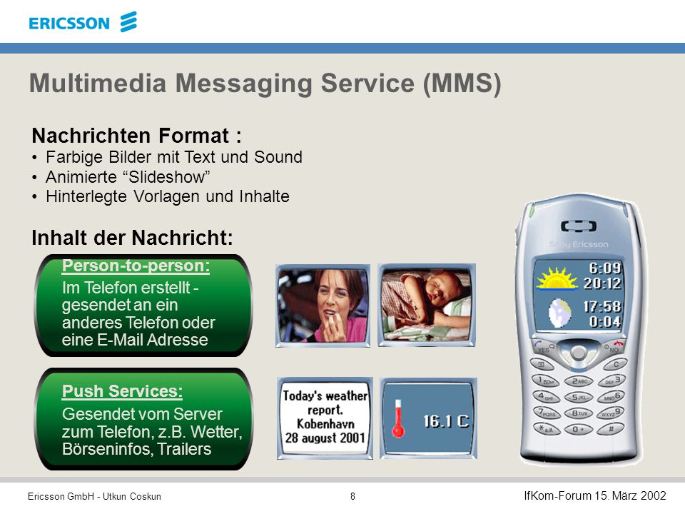 Multimedia Messaging Service (MMS)