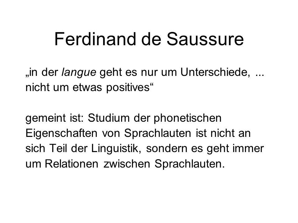 """Ferdinand de Saussure """"in der langue geht es nur um Unterschiede, ..."""