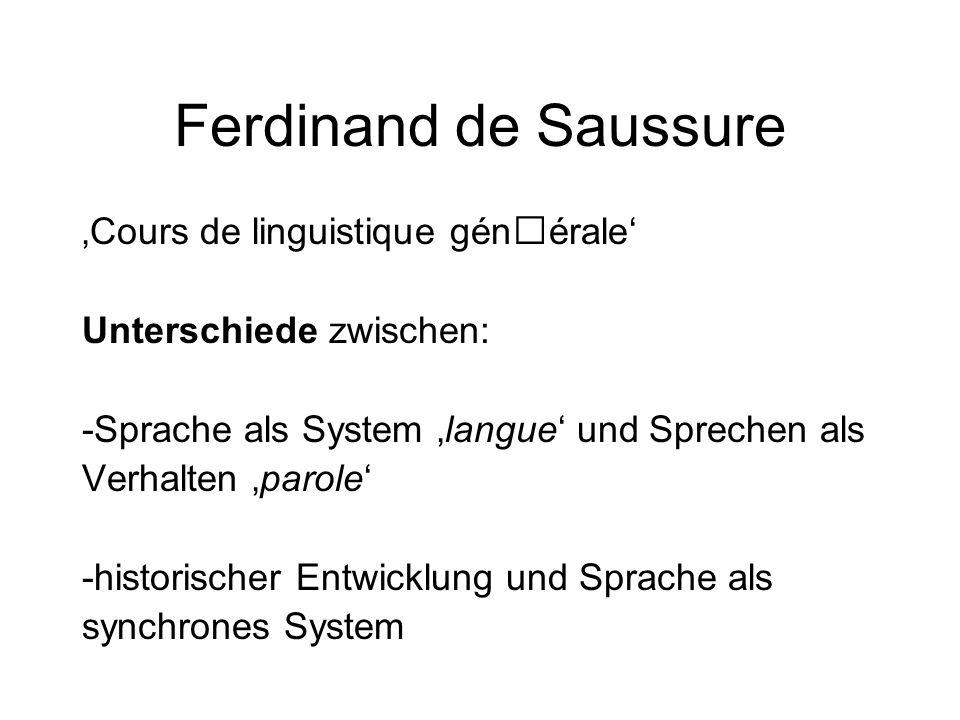 Ferdinand de Saussure 'Cours de linguistique générale'