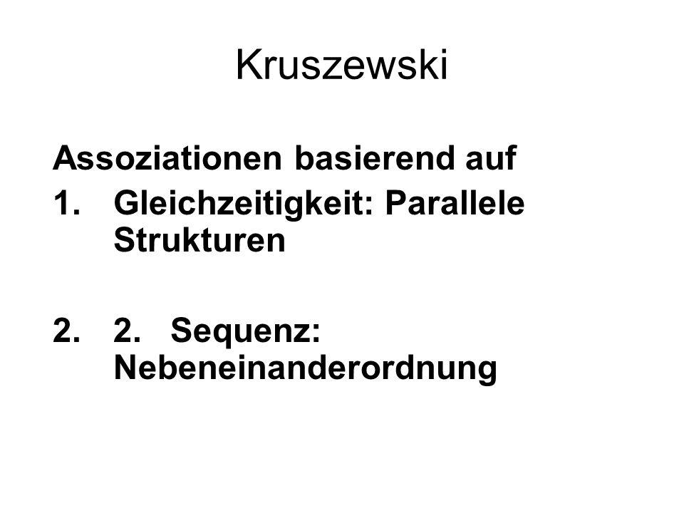 Kruszewski Assoziationen basierend auf